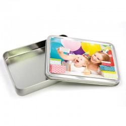 Box 17x11 cm. h. 2,5 cm. in Alluminio