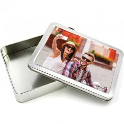Box 21x16 cm. h.4 cm.in Alluminio