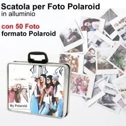 Box valigetta 12x10 h.3 cm. con 50 Foto formato Polaroid
