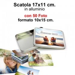 Box 17x11 cm. h. 2,5 cm.con 50 Foto formato 10x15 cm.