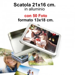 Box 21x16 cm. h.4 cm. con 50 Foto formato 13x18cm.
