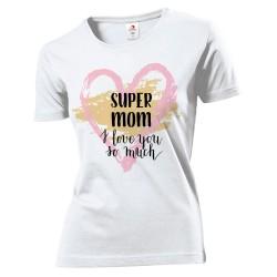 T-Shirt Donna con Stampa Super Mom